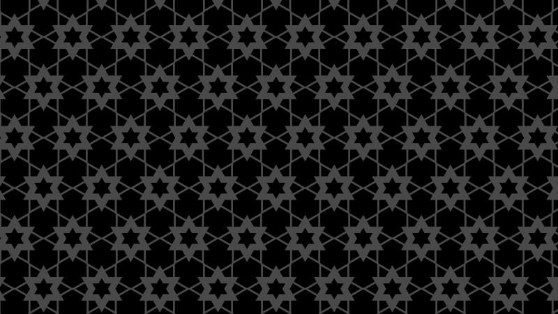 Black Star Pattern Vector Graphic