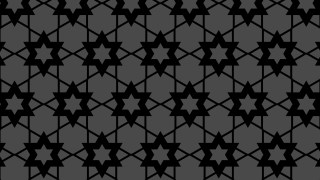 Black Star Pattern Background Vector Image