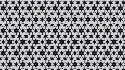 Black and Grey Star Background Pattern Illustrator