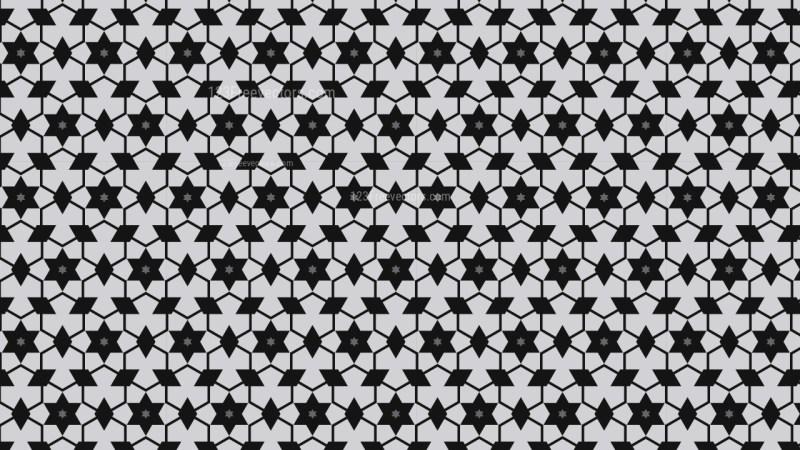 Black and Grey Star Background Pattern Illustrator