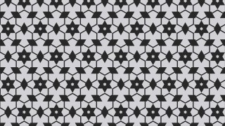 Black and Grey Seamless Star Pattern Vector Illustration