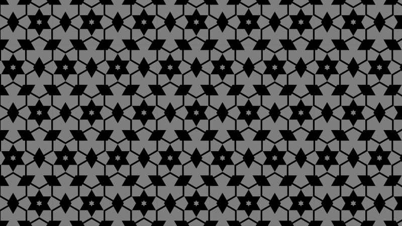 Black and Grey Stars Pattern Background Illustration
