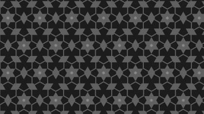 Black Stars Background Pattern Design