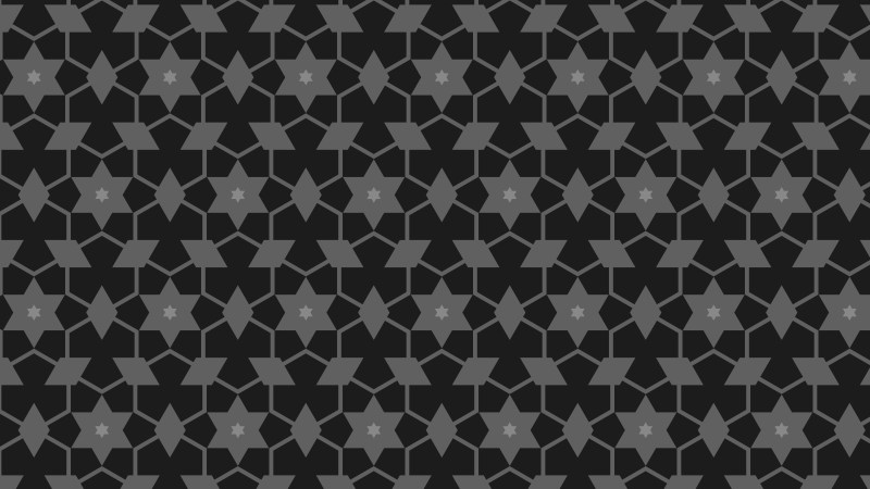 Black Stars Background Pattern Design