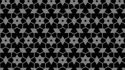 Black Seamless Stars Pattern Image