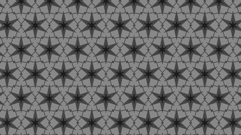 Black and Grey Seamless Star Pattern