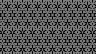 Black and Grey Seamless Star Pattern Background