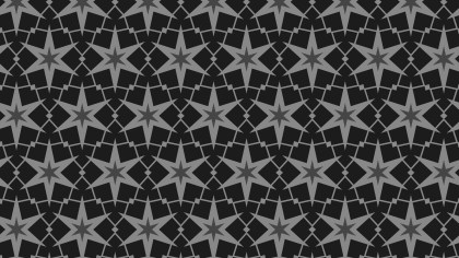 Black Seamless Star Background Pattern