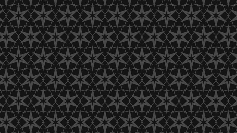 Black Stars Background Pattern
