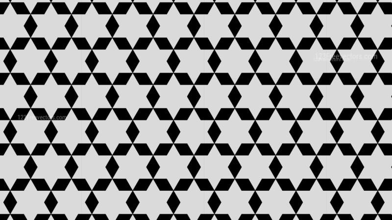Black and Grey Seamless Stars Pattern Background