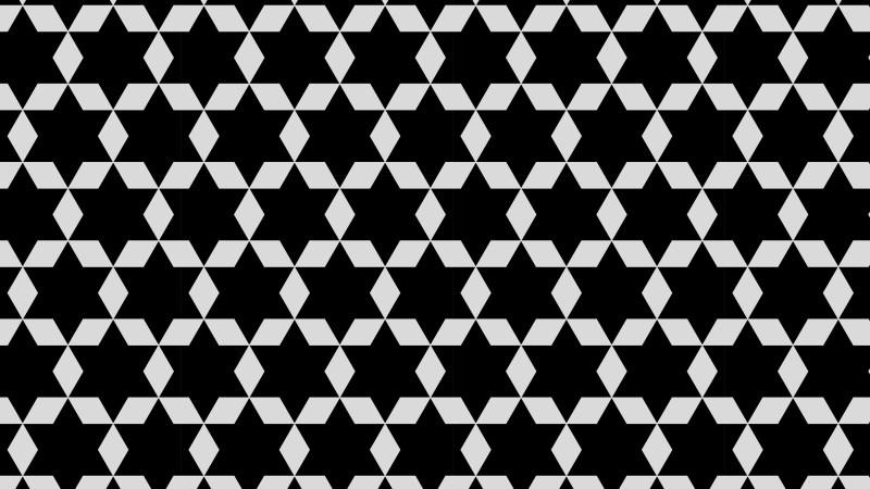 Black and Grey Seamless Stars Background Pattern