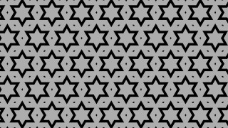 Black and Grey Seamless Star Pattern Illustration