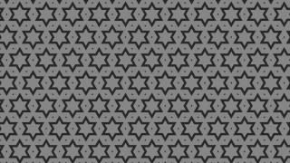 Black and Grey Seamless Star Pattern Background Design
