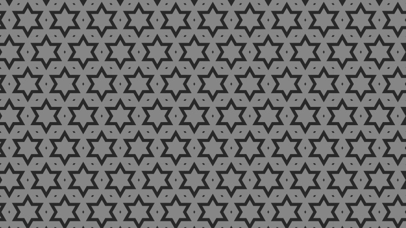 Black and Grey Seamless Star Pattern Background Design