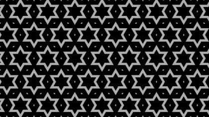Black Seamless Star Background Pattern Image
