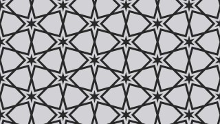 Black and Grey Seamless Stars Background Pattern Vector Art