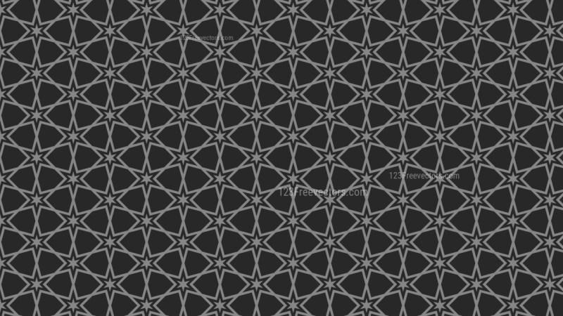 Black Star Background Pattern
