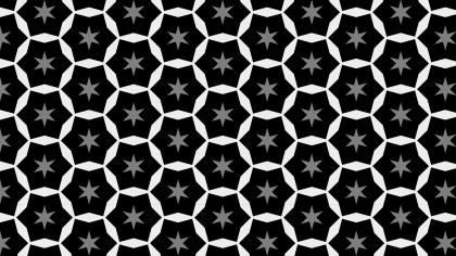 Black and Grey Seamless Stars Pattern
