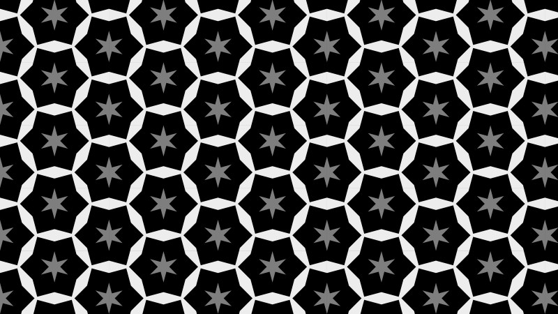 Black and Grey Seamless Stars Pattern