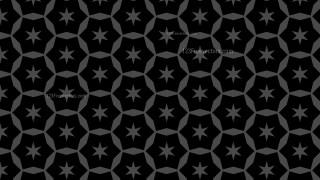 Black Seamless Stars Pattern Background