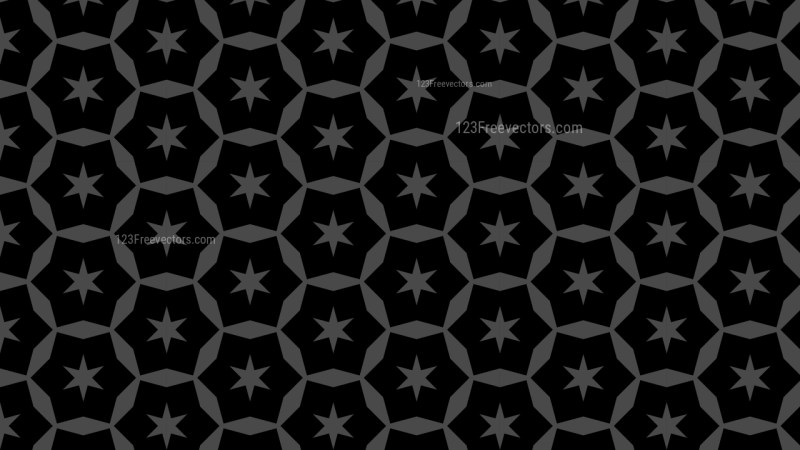 Black Seamless Stars Pattern Background