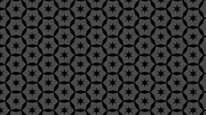 Black Seamless Stars Background Pattern