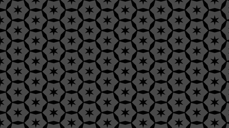 Black Seamless Stars Background Pattern