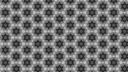 Black and Grey Star Pattern Design