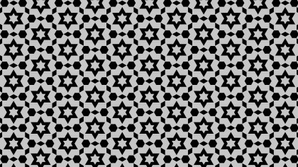 Black and Grey Star Pattern Background Image