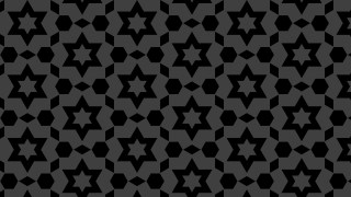 Black Seamless Star Pattern Vector Image