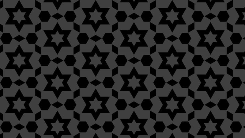 Black Seamless Star Pattern Vector Image
