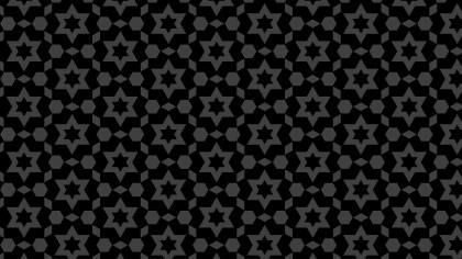 Black Seamless Star Pattern Background Illustrator