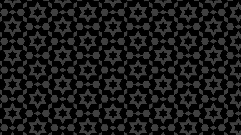 Black Seamless Star Pattern Background Illustrator