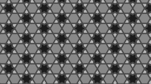 Black and Grey Seamless Star Background Pattern Vector Illustration