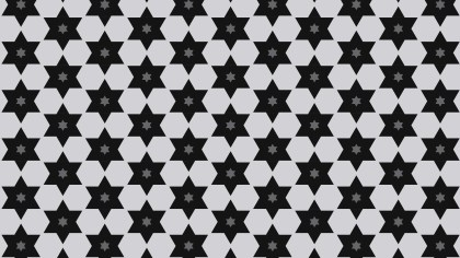 Black and Grey Stars Background Pattern Graphic