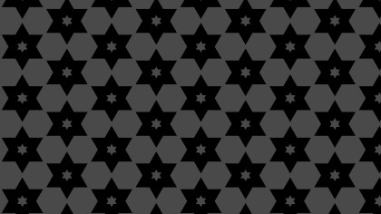 Black Seamless Stars Pattern Illustration