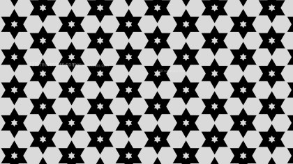 Black and Grey Seamless Stars Pattern Background Design