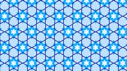 Light Blue Seamless Star Pattern Background