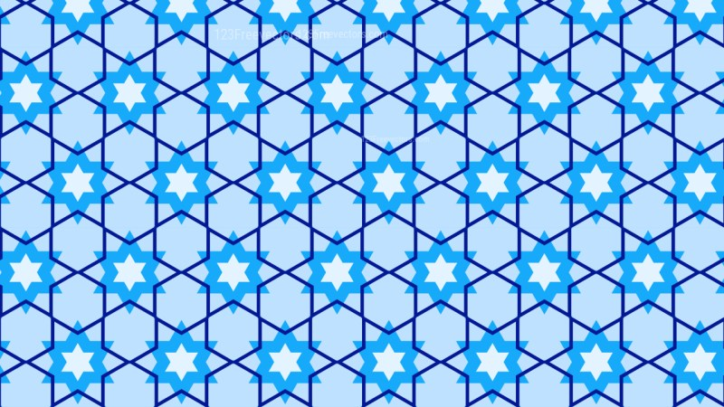 Light Blue Seamless Star Pattern Background