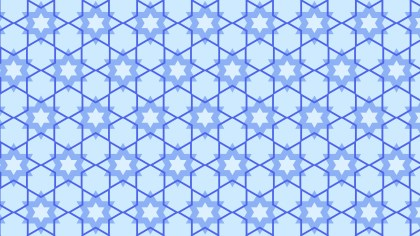 Blue Seamless Star Background Pattern