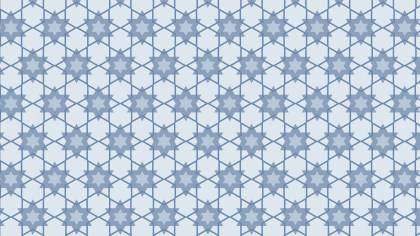 Light Blue Seamless Stars Pattern