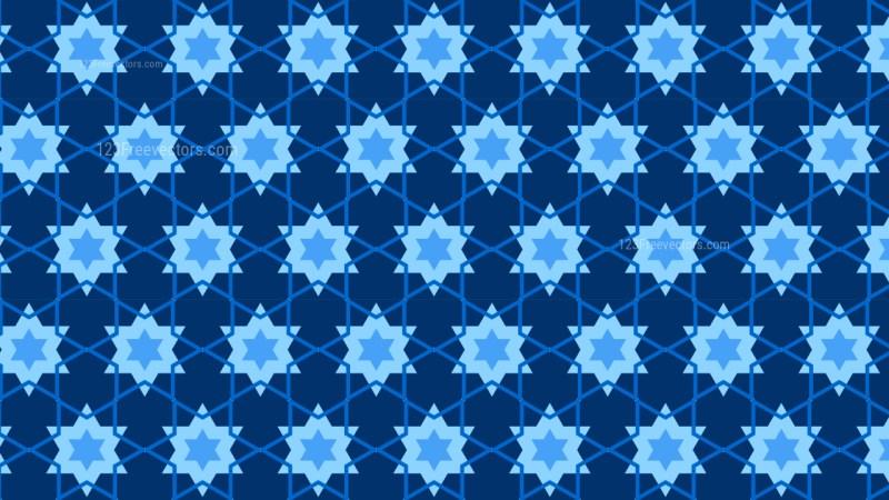 Navy Blue Star Pattern Illustrator