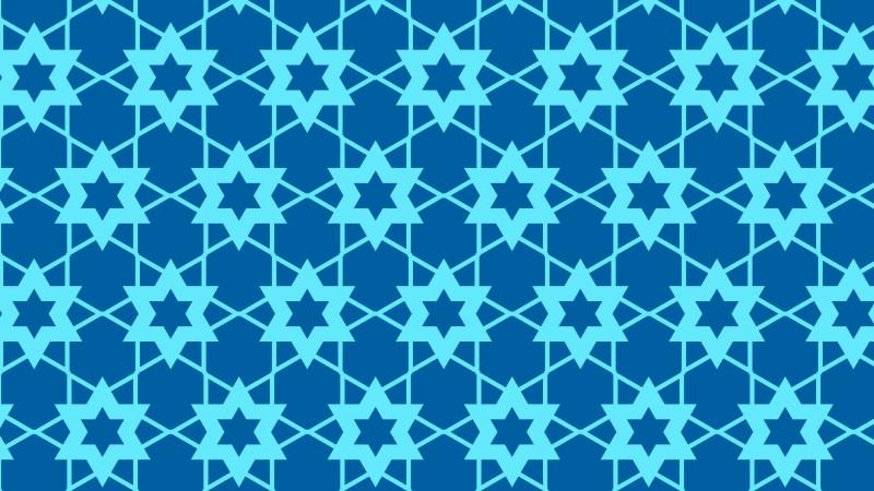 Blue Seamless Star Pattern Vector Art
