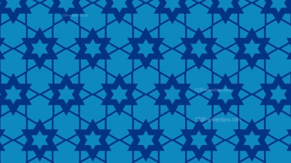 Blue Stars Background Pattern Vector Graphic
