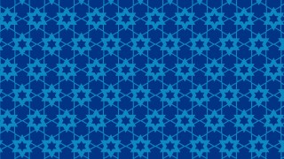 Blue Seamless Stars Pattern Vector Image