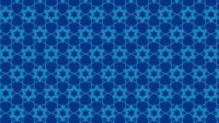 Blue Seamless Stars Pattern Vector Image