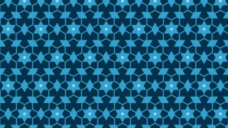 Dark Blue Seamless Star Pattern