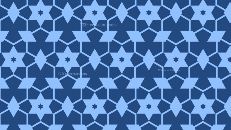 Blue Stars Background Pattern