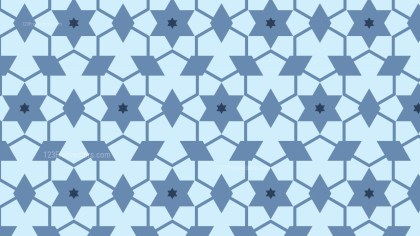Light Blue Star Pattern Graphic