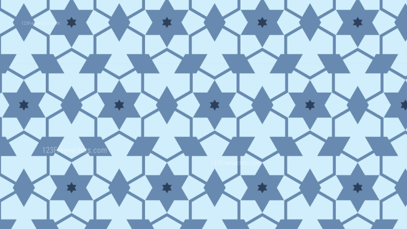 Light Blue Star Pattern Graphic